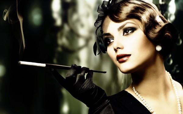 Гармоничный макияж в стиле ретро